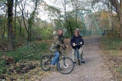 Bicyclists enjoying the Raritan River Greenway near  Old York Road, Raritan/Bridgewater