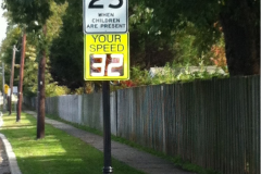 Driver Feedback Sign –one example of enhancing pedestrian safety
