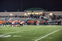 Night game at Torpey Athletic Complex, Bridgewater