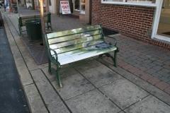 Bench art in downtown Raritan –part of Raritan Borough's creative placemaking strategy