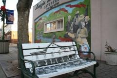 Bench art and mural in downtown Raritan –part of Raritan Borough's creative placemaking strategy