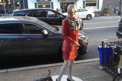 One of J. Seward Johnson's sculptures displayed in 2019 as part of Somerville's creative placemaking strategy